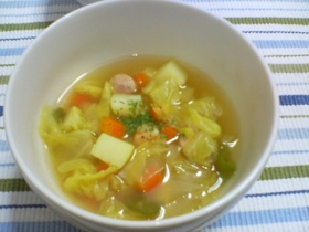 コロコロ野菜のカレー風味スープ