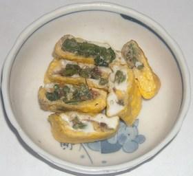 いわしの甘露煮&コシアブラ入り卵焼き