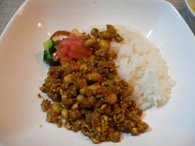 大豆と豆腐のヘルシードライカレー