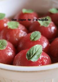 前菜に、プチトマトマリネdeハチミツ