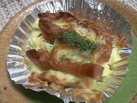♪お弁当に(^o^)ポテサラチーズ焼き♪