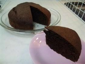 混ぜて焼くだけ簡単チョコレートケーキ☆