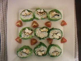 ♪春キャベツの長芋巻き寿司♪