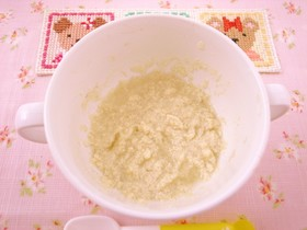 離乳食 5ヶ月のバナナ豆腐