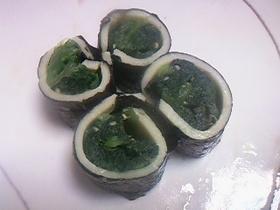 ☆お弁当に♪簡単小松菜チーズ海苔巻き♪