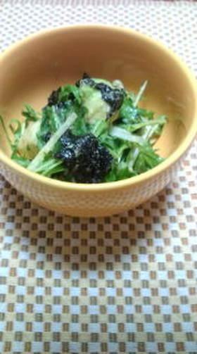 アボガドと水菜の海苔サラダ