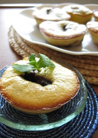 ベリージャムのミニチーズケーキ