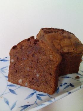 チョコレートとオレンジピールのケーキ