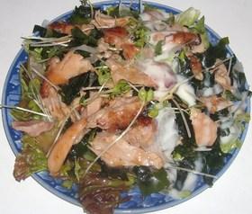 照り焼きチキンのサラダ
