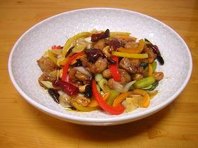 宮保鶏丁(鶏肉とカシューナッツの炒め)