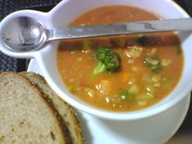 ほっとする海老のビスク風スープ