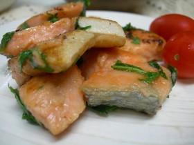甘塩鮭ソテー・シソバター風味