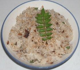 いわしの甘露煮&木の芽の混ぜご飯