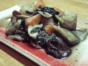 秋野菜とつくねのとろり炒め煮