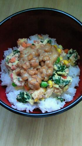 栄養たっぷりマヨ納豆丼