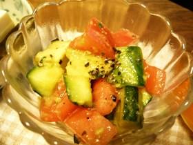 アボカド☆胡瓜☆トマトのオリーブ風味