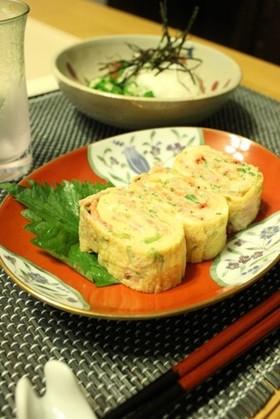 お弁当に☆三つ葉と桜えびの卵焼き
