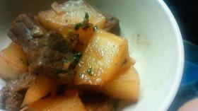 ご飯が進む!大根と牛肉のウスターソース煮