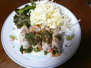 野菜の豚巻~梅しそソース~の写真