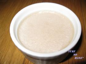 苺ジャムと練乳&豆乳のミルクゼリー☆