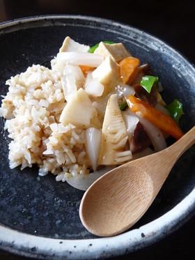 生姜風味のあんかけ玄米炒飯