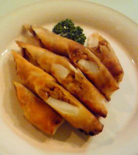 納豆と大根のミニ春巻き