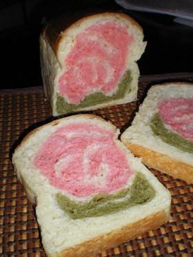 母の日にお花の食パン(HBバージョン)♪