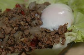 豚ひき肉とこんにゃく炒め☆ガパオ風