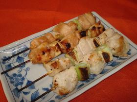 鶏ムネ肉で♪ジューシーな焼き鳥~2種~