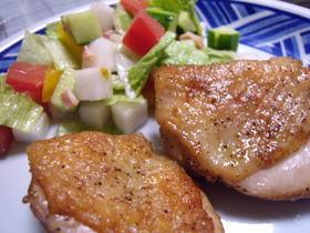 カリカリ鶏皮♡カレー風味なチキンソテー