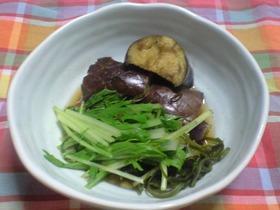 大葉にんにく醤油で♪ナスと水菜のさっと煮