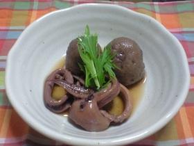イカと冷凍サトイモの煮付け