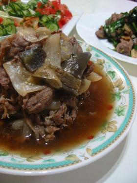 新たまねぎとナスと牛肉の♪簡単☆煮物~♪