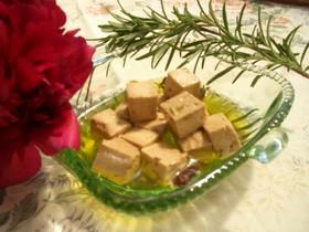 味噌漬け豆腐のオリーブオイルマリネ