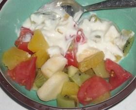 トマト&フルーツヨーグルト