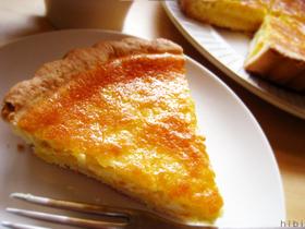 つぶつぶパイナップルのチーズケーキタルト