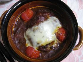 デミグラスハンバーグのチーズ焼き