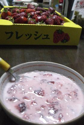 簡単☆ミルキー苺ヨーグルト