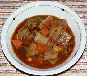 ラタトゥイユ風根菜のトマト煮込み