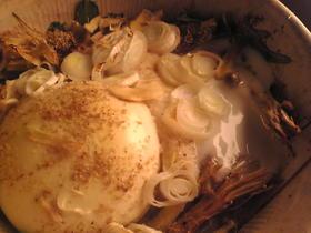水菜と山芋と豆腐と卵と生姜のオーブン焼き