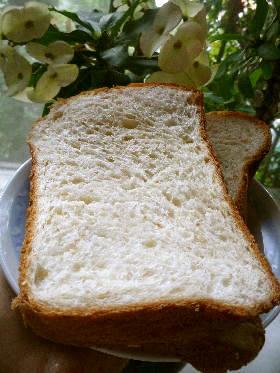 カスタード風味のホームベーカリー食パン