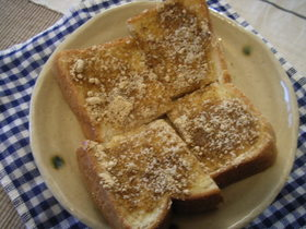 簡単すぎても美味なきな粉トースト