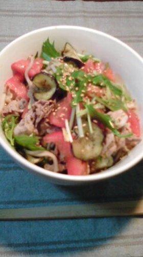 豚サラダ蕎麦