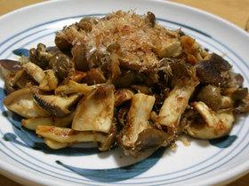 キノコの麺つゆ炒め