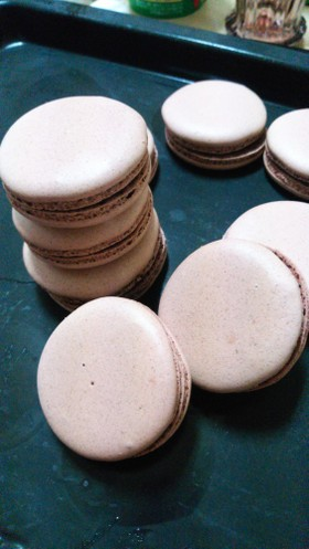 チョコマカロン 粉糖乾燥失敗無しレシピ!