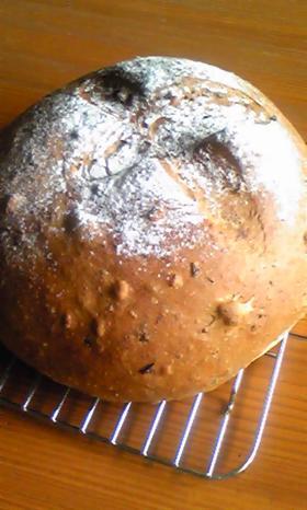 HBで★くるみとレーズンの丸型パン