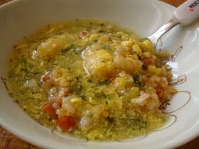 ふんわりたまごスープであんかけチャーハン
