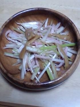 絶品おつまみ!葱とメンマの和え物★