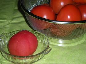 傷跡はどこ?きれいなトマトの皮むき