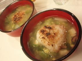 焼きおにぎりdeスープご飯